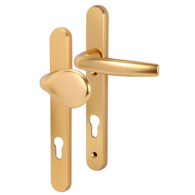 Hoppe Atlanta Multipoint Handle - uPVC/Timber - 92mm centres - 70mm door thickness - Lever/Pad - Go
