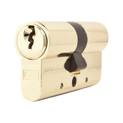 5 Pin Cylinder - Euro Double - 30 + 30mm - Brass