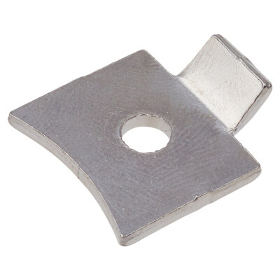 ION Standard Flat Bookcase Clip - Polished Nickel Plated - Pack 10