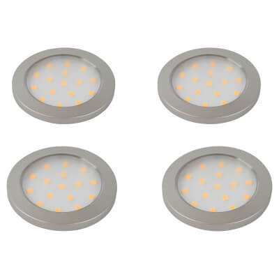 Sensio Pinto LED Under Cabinet Spotlight - Round - Warm White - Includes Driver - Pack 4)