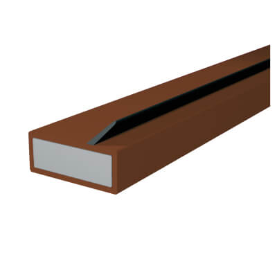 Pyroplex Single Offset Flipper Intumescent Strip - 10 x 4 x 2100mm - Brown - Pack 10)