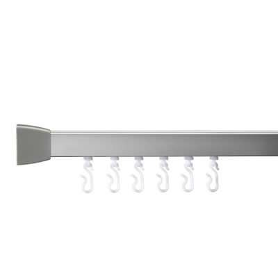 Croydex Shower Rail - L Shaped - Professional Profile 800 - 1000mm - Silver