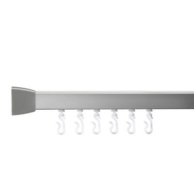 Croydex Shower Rail - L Shaped - Professional Profile 800 - 1000mm - Silver