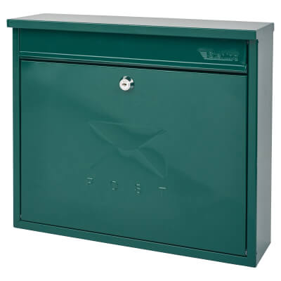 Elegance Mailbox - 362 x 310 112mm - Green)