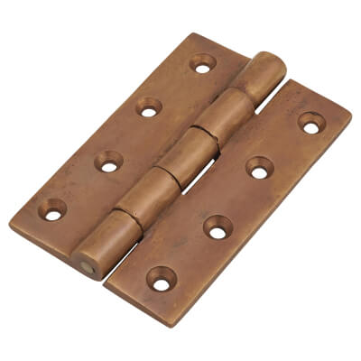Cast Bronze Hinge - 102 x 76mm - Oil Rubbed Bronze - Pair