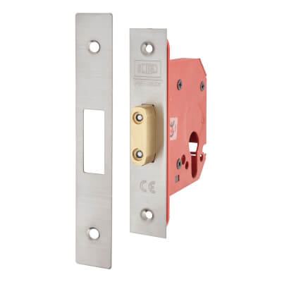 UNION® 21EUS StrongBOLT Euro Profile Deadlock - 81mm Case - 57mm Backset - Stainless Steel)