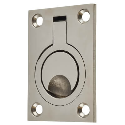 Altro Flush Ring - 62 x 44mm - Polished Stainless Steel