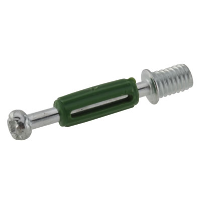 Thread Dowel - Cam Centre/Pin Length 32mm - Green - Pack 50