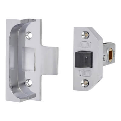 UNION® 2650 Rebated Tubular Latch - 64mm Case - 44mm Backset - Bright Silver
