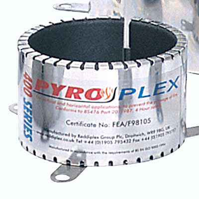 Pyroplex 4 Hour Pipe Closing Collar - Stainless Steel)