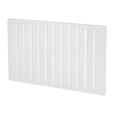 Hit & Miss Vent - 271 x 171mm - 8600mm2 Free Air Flow - White Plastic