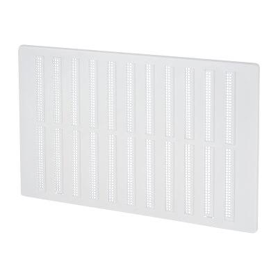 Hit & Miss Vent - 271 x 171mm - 8600mm2 Free Air Flow - White Plastic