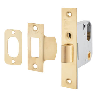 UNION® 2332 Mortice Nightlatch - 77mm Case - 60mm Backset - Polished Brass