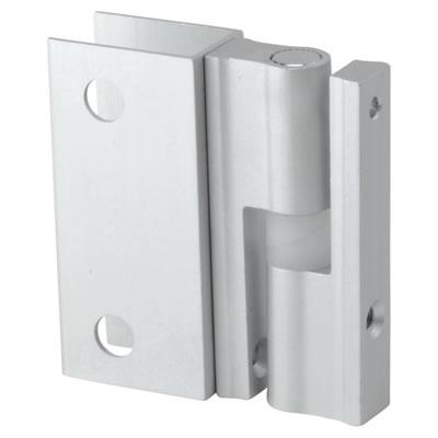 Pro Self Closing Hinge - Satin Anodised Aluminium - 12-13mm Panels