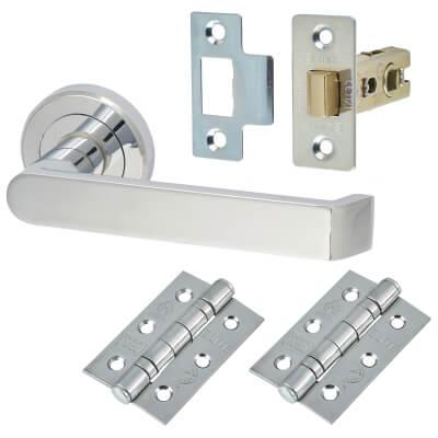 Concept Door Handle - Door Kit - Polished Chrome