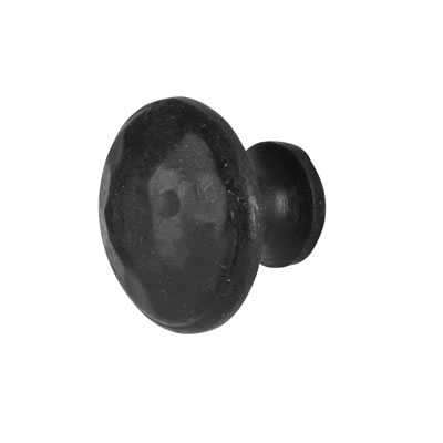 Olde Forge Cupboard Knob - 25 x 32mm - Black Iron)