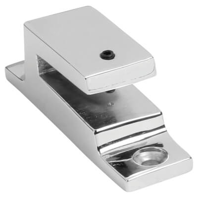 Hampstead Long Locking Keep - Polished Chrome