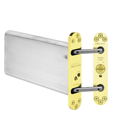 Powermatic R100 Hydraulic Concealed Closer - Brass)