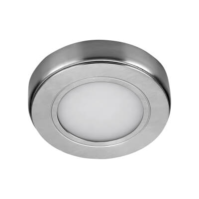 Sensio TrioTone Hype - Colour Selectable LED Cabinet Light - Round - Stainless Steel)