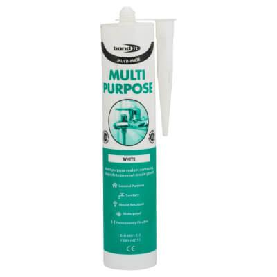 Bond It Multi-Mate Multi-Purpose Silicone - 310ml - White)