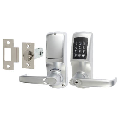 Codelock CL5510 Heavy Duty Bluetooth Smart Lock - Brushed Steel)