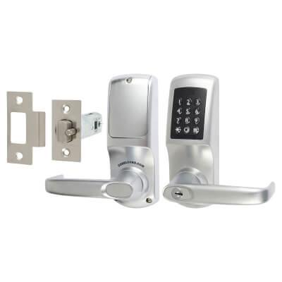 Codelock CL5510 Heavy Duty Bluetooth Smart Lock - Brushed Steel)