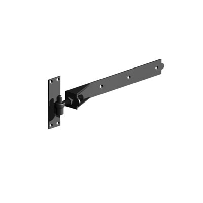 Adjustable Hook & Band on Plate - 600mm - Black Galvanised)