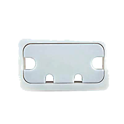 Rectangular Cable Tidy - 105 x 55mm - Silver Grey - Pack 10