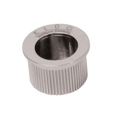 KLÜG Round Door Edge Finger Pull - 30mm - Polished Chrome