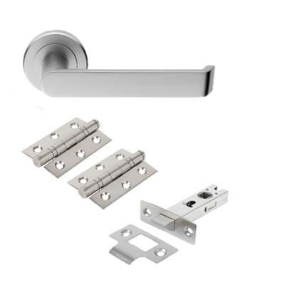 Concept Door Handle - Door Kit - Satin Chrome