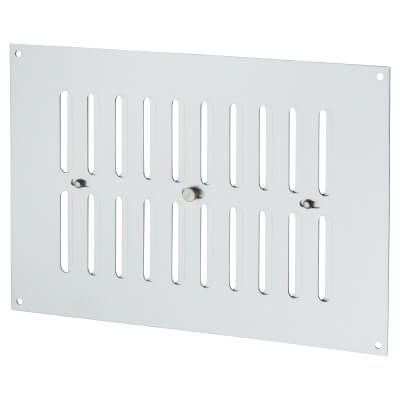 Hit & Miss Pattern Vent - 242 x 165mm - 1960mm2 Free Air Flow - Satin Aluminium)