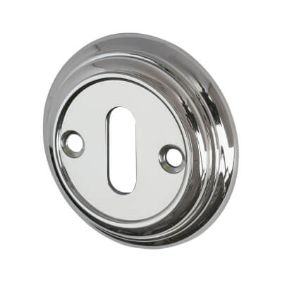 Aglio Escutcheon - Keyhole - Polished Chrome