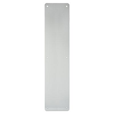 1.5mm Plain Finger Plate - 450 x 100mm - Satin Aluminium