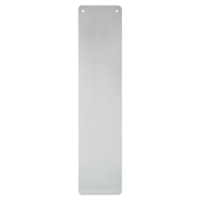 1.5mm Plain Finger Plate - 450 x 100mm - Satin Aluminium