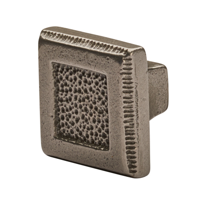 Crofts & Assinder Pip Cabinet Knob - Square - 35mm - Cast Iron