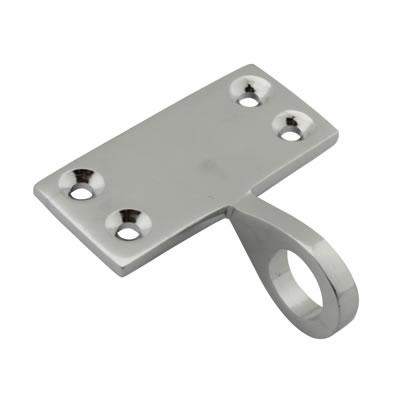 Top Rail Mounting Sash Ring Lift - 48 x 22mm - Polished Chrome