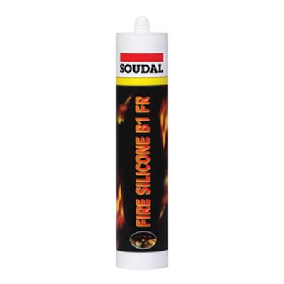 Soudal Fire Silicone B1 FR - 310ml - White)