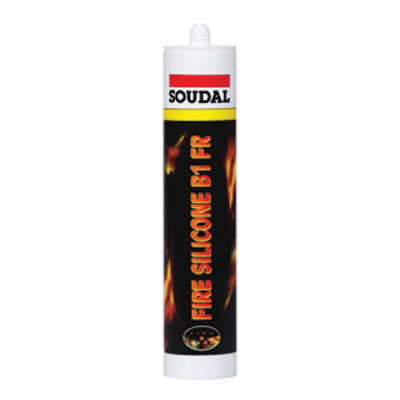 Soudal Fire Silicone B1 FR - 310ml - White)