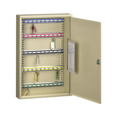 Heavy Duty Single Door Steel Cabinet - 50 keys)