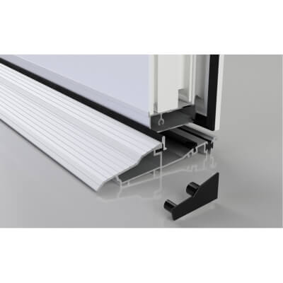 Stormguard Proline Inward Threshold - 2000mm - Inward Opening Doors - Silver)