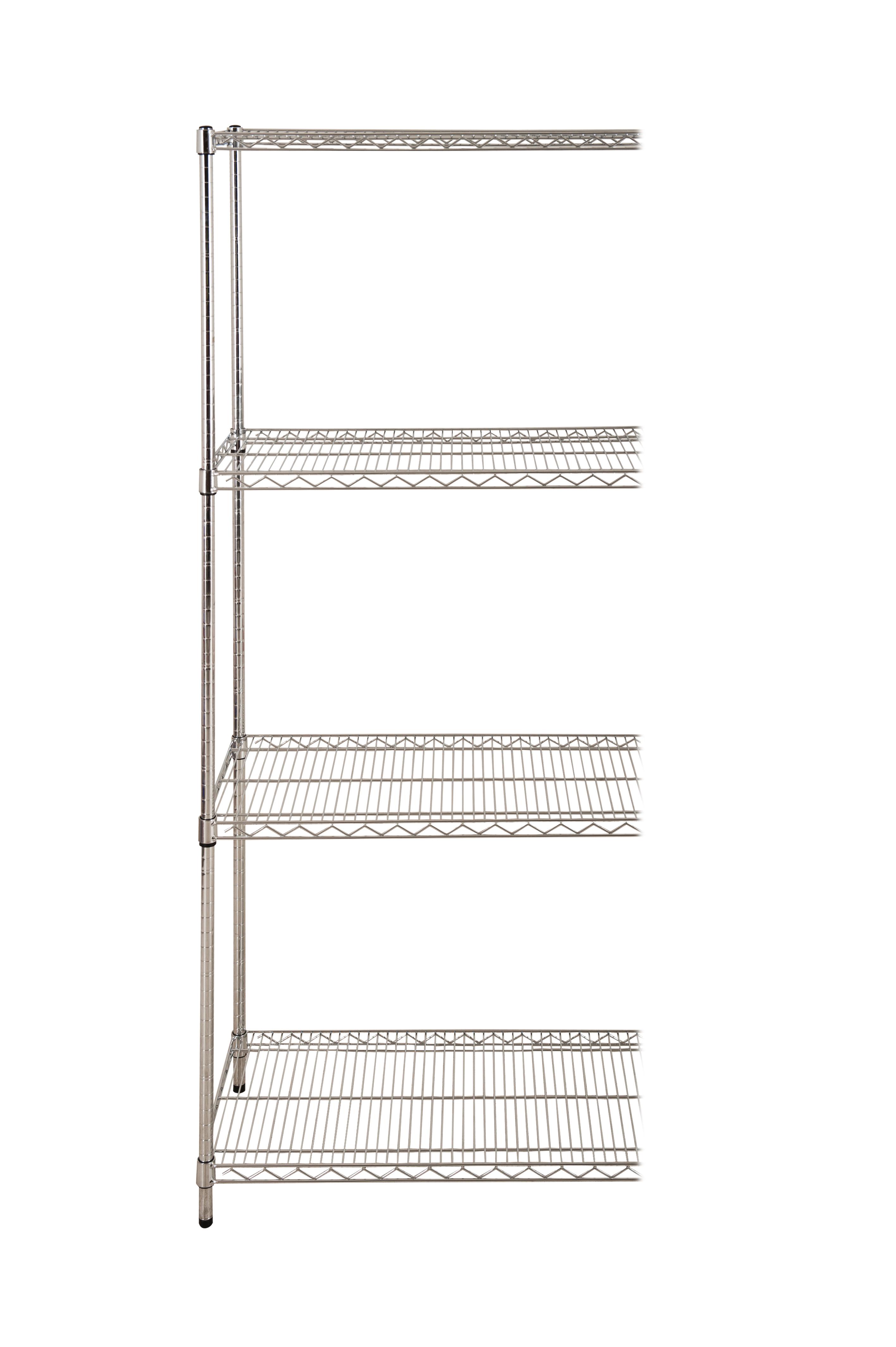 4 Shelf Chrome Add On Bay - 1880 x 915 x 610