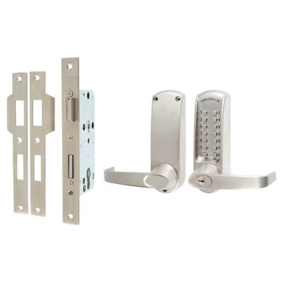 Codelock CL620 Mechanical Lock - No Code Free - Stainless Steel)
