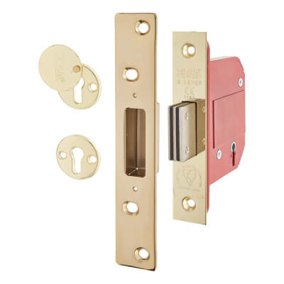 ERA® BS3621:2007 5 Lever Deadlock - 79mm Case - 56mm Backset - Brass