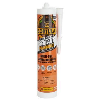 Gorilla Mould Resistant Sealant - 265ml - Paintable)