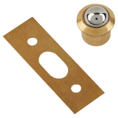 Bales Catch - 10mm - Electro Brass - Pack 10