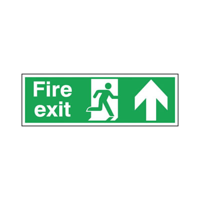 Double Sided Fire Exit - Up Arrow)