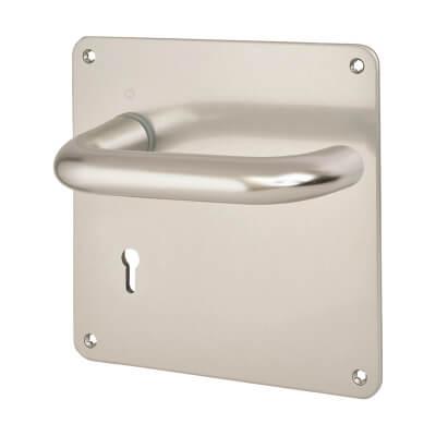 Altro 20mm Return to Door Handle - Keyhole Lock Set - Aluminium