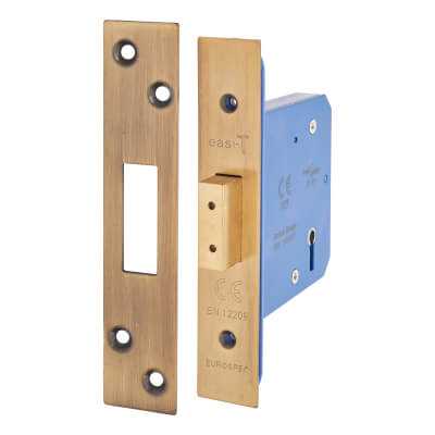 A-Spec Architectural 5 Lever Deadlock - 78mm Case - 57mm Backset - Florentine Bronze