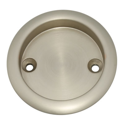 KLÜG Round Screw Fixed Flush Handle - 63mm - Satin Nickel