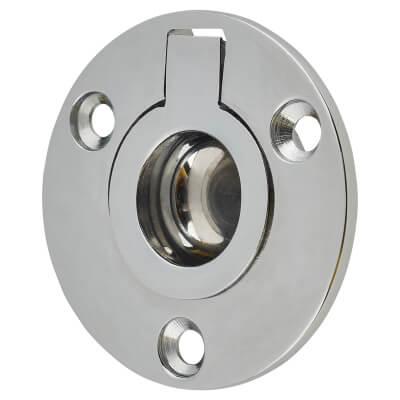 Round Flush Ring Pull - 45mm - Polished Chrome